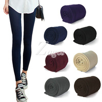 HOT SELL Women's Winter Thick Warm Slim Stretch Footless Velvet Tights Leggings Pants Wholesale BD0158 FREE SHIP