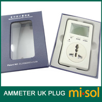Free Shipping UK Plug Ammeter Energy Power Watt Voltage Volt Meter Monitor Analyzer