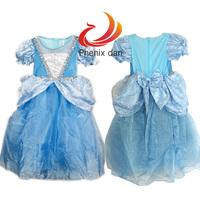 Halloween Princess Dress Rapunzel Costume Cosplay Sky-blue Party Dress Dresses Girls