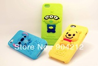 Newest Cute Lovely cartoon soft Silicon back cover Case For iphone 4 4G 5 5G
