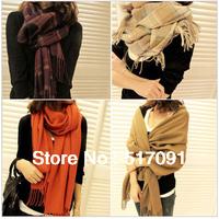 Fashion Women Shawl Ladies Woolen Yarn Scarf  Warm Neckerchief Muffle Plaids Scarves Free Shipping
