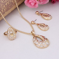 2014 new arrival Dubai 18K Gold Plated  Fashion Wedding women Bridal african gold plating costume pendant necklace jewelry set