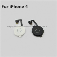 For iPhone 4 4G New Black Home Button with Flex Cable Assembly Free shipping