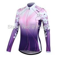 Women Purple Long Seelve Jsrsey For Lady's Outdoor Sports On Autumn and Winter