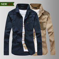 Spring man's Clothing 100% Cotton outwear Turn-down Collar high quality long sleeve Casual bottoming Shirt Slim M L XLXXL
