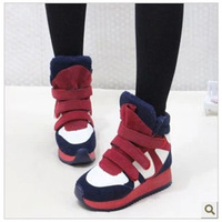 new 2013 sneakers athletic shoes woman women shoes Heavy-bottomed high Velcro mixed colors within the higher winter sports