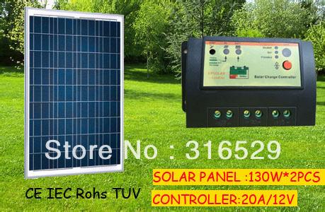 130W *2 pcs solar panel free shipping total 260W(China (Mainland))