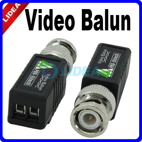 10x UTP Network Video Balun Transceiver CAT5 to Camera CCTV DVR BNC Male HK B-36(China (Mainland))