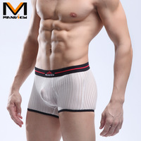 2013 brand 4pcs/lot underwear men's boxer  trunks panties fresh breathable gauze big male sexy panties free shipping