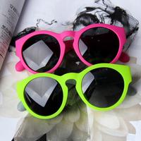 Free shipping Neon color scrub sunglasses candy color big circle vintage sunglasses fashion sun glasses