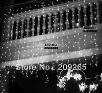 LED light flashing lane LED String lamps curtain icicle Christmas festival lights 110v-220v EU UK US AU plug 8mode 3*3 m 400 Led