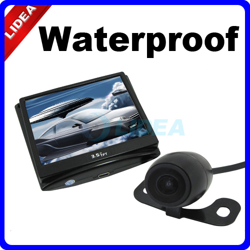 """Wireless Car Camera Rear View with 3.5"""" Color LCD Monitor EMS QS-04(China (Mainland))"""