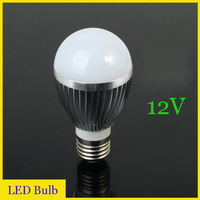 Free shipping (10pieces/lot)led bulb lamp e27 12v 3W/4W/5W/6W/7W 12v LED Light Bulb Lamp white/warm white AC/DC12V wholesale