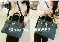 2015 New Fashion women Dull Polish Leather Tassels Handbag Shoulder Bag Messenger Bag/black,green