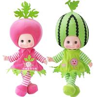 "The original 19"" inch Fruit Dolls Super Cute Vegetables Doll Pear Plush DOLL Toy Toys Talk Sing Blink 1pcs/set(colur random)"