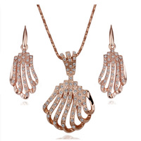 18K gold jewelry set fashion ring Genuine Austrian crystals italina jewelry set,Nickle free antiallergic vddy kxol
