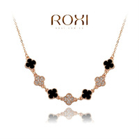 2014ROXI fashion jewelry, clear Austrian crystal, women necklaces.,Mosaic man-made necklaces,Chrismas/wedding gift,2030042655A