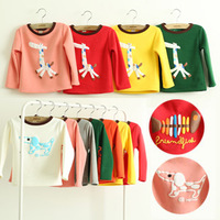 2013 autumn and winter boys girls clothing child long sleeve o-neck thickening plus fleece t-shirt basic shirt 7colors 90-130cm