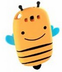Cute 3D Cartoon Small Smile Bee Silicone Soft Case Cover Compatible for Samsung Galaxy S3 III i9300