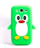 Cute 3d Cartoon Animal Penguin Pattern Soft Silicone Cover Case for Samsung Galaxy i9300 S3 III