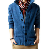 Semir men's clothing METERS BONWE outerwear male autumn and winter jacket male thickening cardigan stand collar cotton-padded