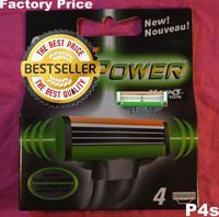 Free Shipping Original Razor Blade Men Sharpener Shaving Razors Blades US Retail Packaging (Total 4 Blades)