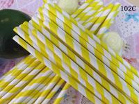 Eco-friendly paper straw banquet wedding multicolour paper straw 102c