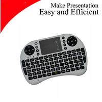 2013 Mini Portable 2.4GHz Wireless Russian/English Touchpad Keyboard Air Mouse Keyboard for battery 2 x AAA Free shipping