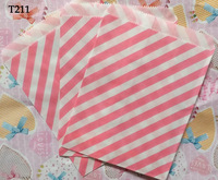 Small disposable eco-friendly paper bag candy packaging paper bag t211 stripe