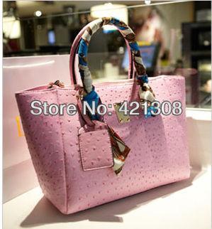 Hot-selling 2013 shoulder bag Sweet gentlewomen all-match fashion ostrich handbag shoulder bag cross-body women's handbag casual(China (Mainland))