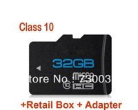 High Quality SD 64GB class 10 Micro SD Memory Card TF 64 GB with retail packaging and card reader free shipping