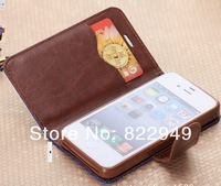 Factory outlets For Apple Iphone 4S 4G leather case Denim with bracket  Phone holster 3 color choose Free