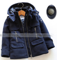 Children's Clothing Cool Male Female Child Fashion  Medium-Long Woolen Overcoat
