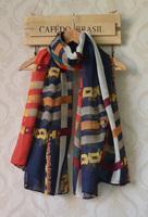 Scarfs fashion style designer 2013,Free shipping,long Women shawl with Fashion chain print,long viscose hijab,head wraps,cape