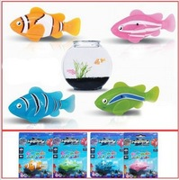Free Shipping 10PCS/Lot Novel Robo Electric Toy 4Colors Robo Fish,Plastic Emulational Toy Robot Fish,Electronic toy for children