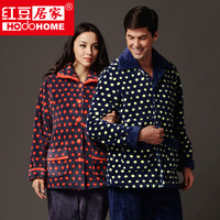 Globalsources at home lovers coral fleece fashion dot lounge sleep set