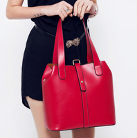 Genuine leather fashion 2013 women's vintage one shoulder bucket handbag picture package