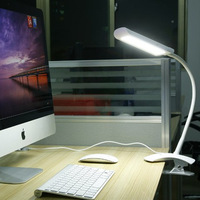 NEW Arrival+Hot!!LED touch Switch Desk Lamp 7W Dimmable LED COB Table Lamp Clamp Available Fashion Design