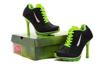 hot!Free Shipping 2014  New Design with Tag Women  High Heel Boots Shoes and Sports High Heels eur size :36-41  black/green