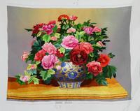 Suzhou cloth embroidery decorative painting peony