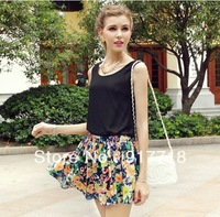 Wholesale 2013 New Fashion Styles Women's T Shirts Chiffon T Shirt  Blouse Vest, Tee Tops S7