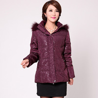 Quinquagenarian women's down coat medium-long thickening plus size mother clothing winter