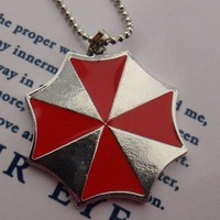 2013 Fashion jewelry bijoux  jewelry,Umbrella Corporation Resident Evil Necklace Pendant Gift Red Zombie Chain