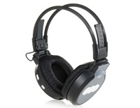 Free shipping MJ-168 Wireless On-ear Style Headphone with Card Slot & LCD Screen Headset Earphone (Grey)