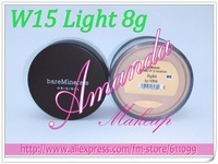 2pcs W15 Light 6g MATTE Bare Escentuals BareMinerals MINERAL Foundation SPF15 loose powder 0.21Oz Click/Lock,