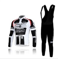 Free shipping hot sale BMC clothing cyclist White and Black Autumn Long Sleeved  cycling jersey