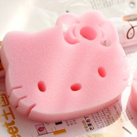 Hello Kitty Sponge Wash Cloth for Kitchen Daily Cleaning Cloth Free Shipping Dish Cleaning Pad Kitchen Hello Kitty Scouring Pad