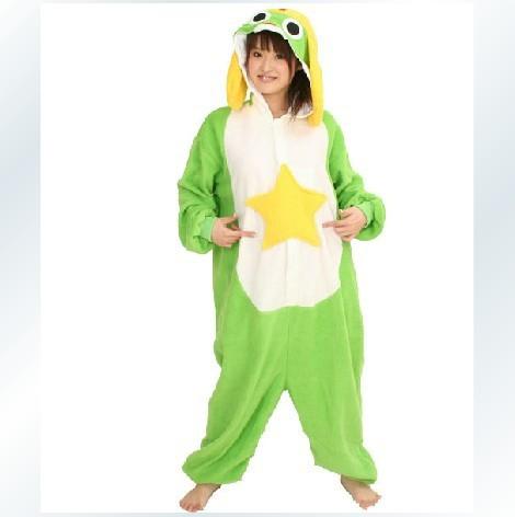 Siamese male and female cartoon pajamas / frog sergeant keroro / care bear / Tengu beast couple tracksuit costumes(China (Mainland))