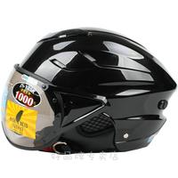 Motorcycle helmet 125b breathable lining flight lenses bright black