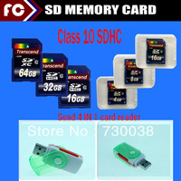 Guaranteed Full Capacity 64GB Transcend SDHC Class 10 SD Memory Card With Retail Box mini sd card
